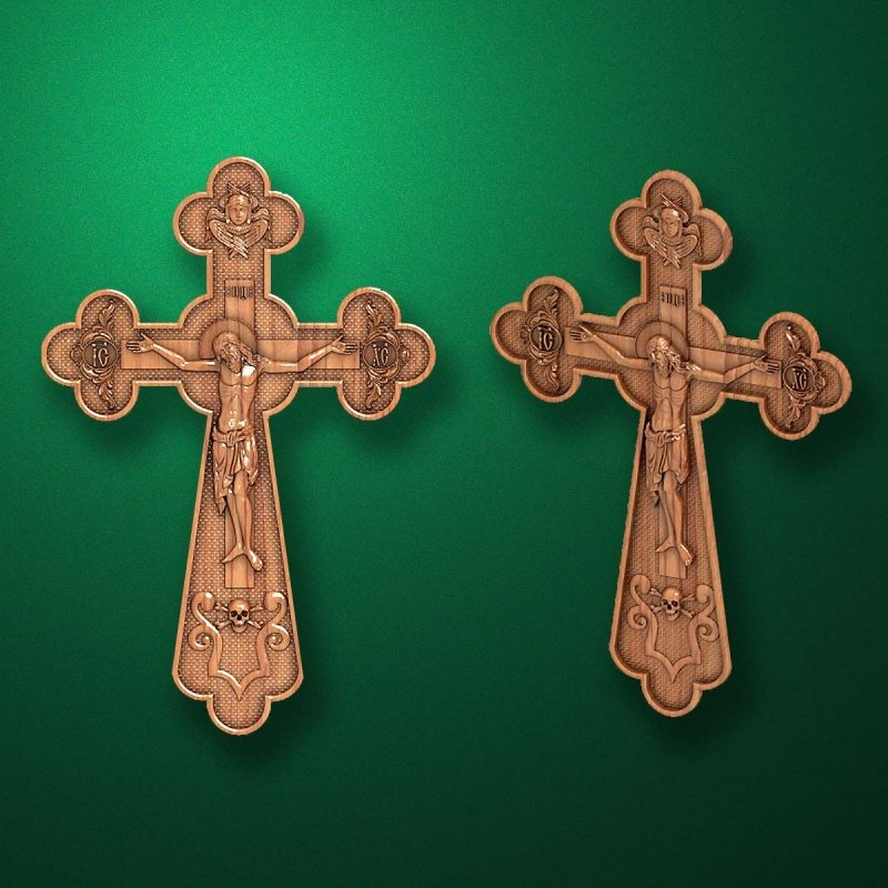 "Carved cross ""Cross Crucifix-006"""