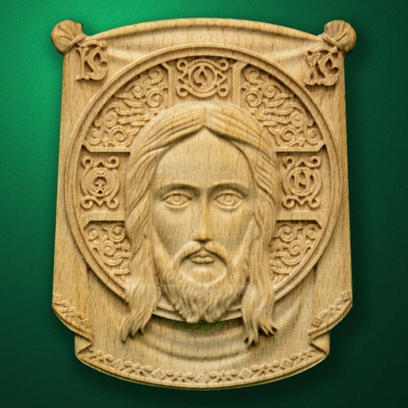 "Picture - Wood carved Icon ""Holy Face"""