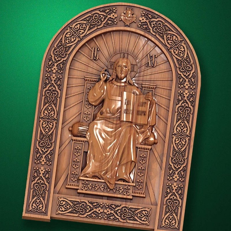 "Carved wood Icon ""Jesus Christ"" (code 77008)"