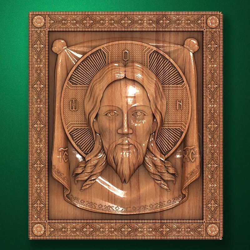 "Picture - Carved wood Icon ""Jesus Christ"" (code 77009)"