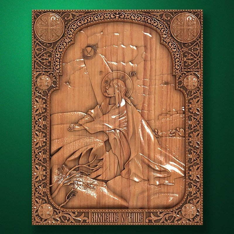 "Carved wood Icon ""Jesus Christ"" (code 77010)"