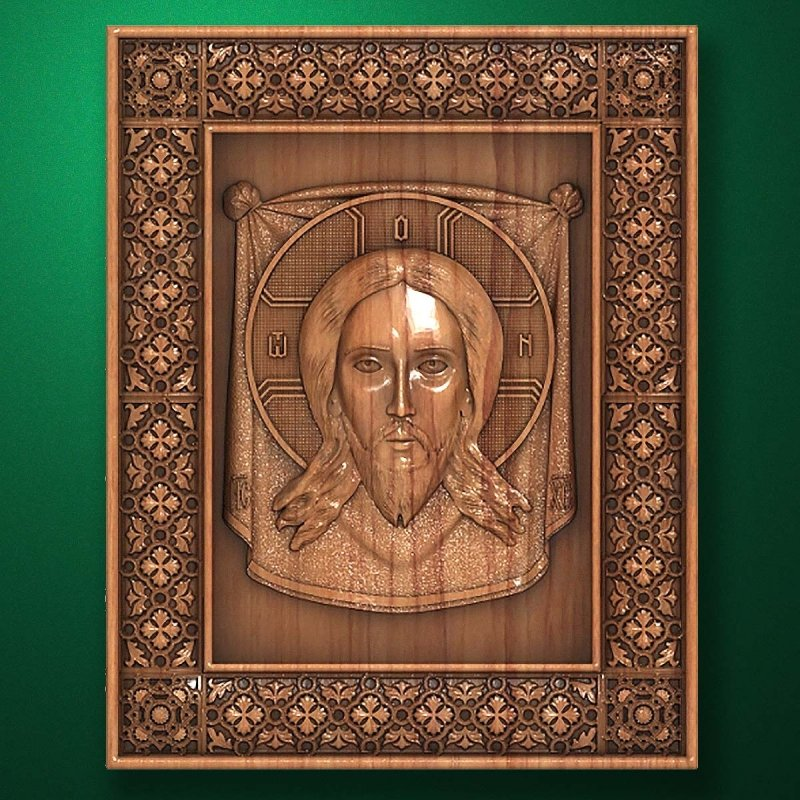 "Carved wood Icon ""Jesus Christ"" (code 77012)"