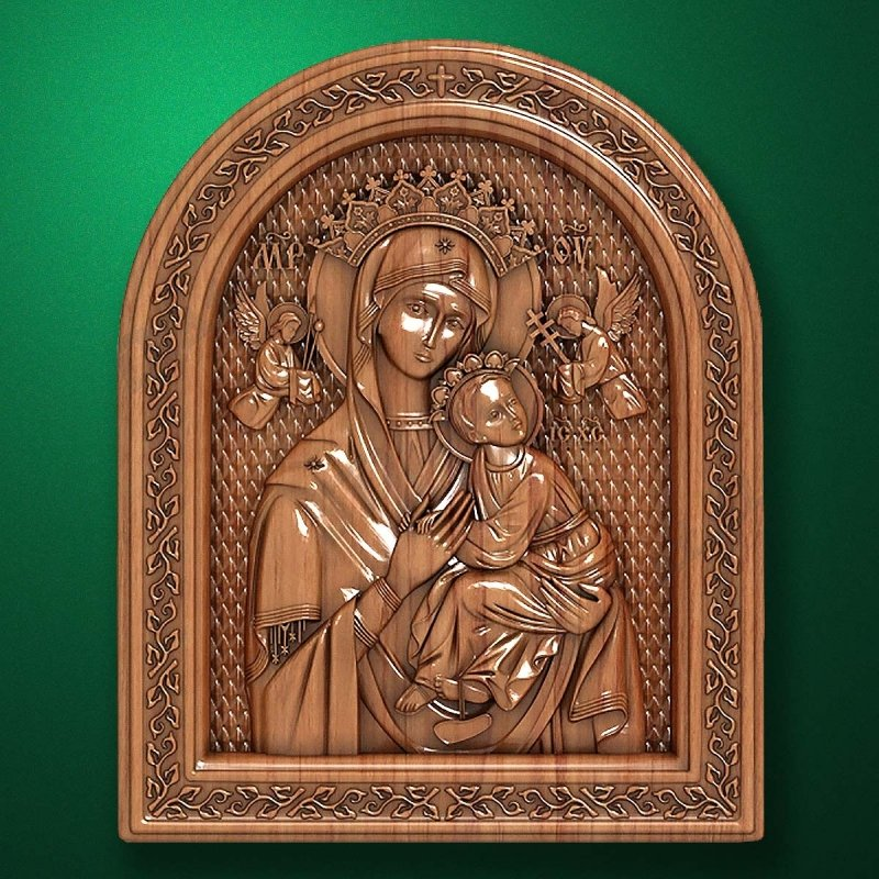 "Carved wood icon ""Virgin"""