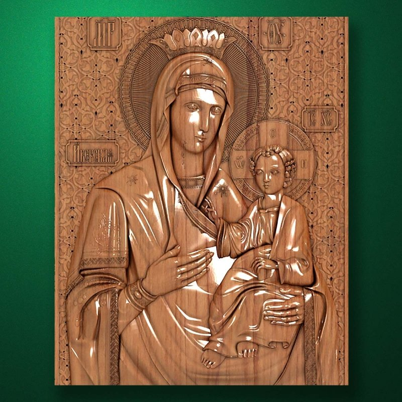 "Carved wooden icon ""Mother of God"" (77310)"