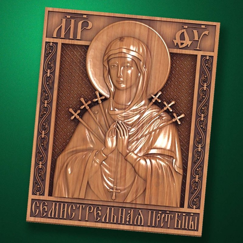 "Carved wooden icon ""Mother of God"" (77322)"