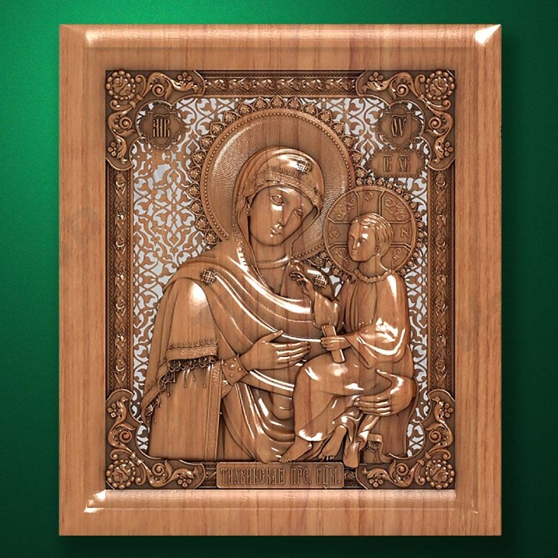 "Carved wooden icon ""Mother of God"" (77323)"
