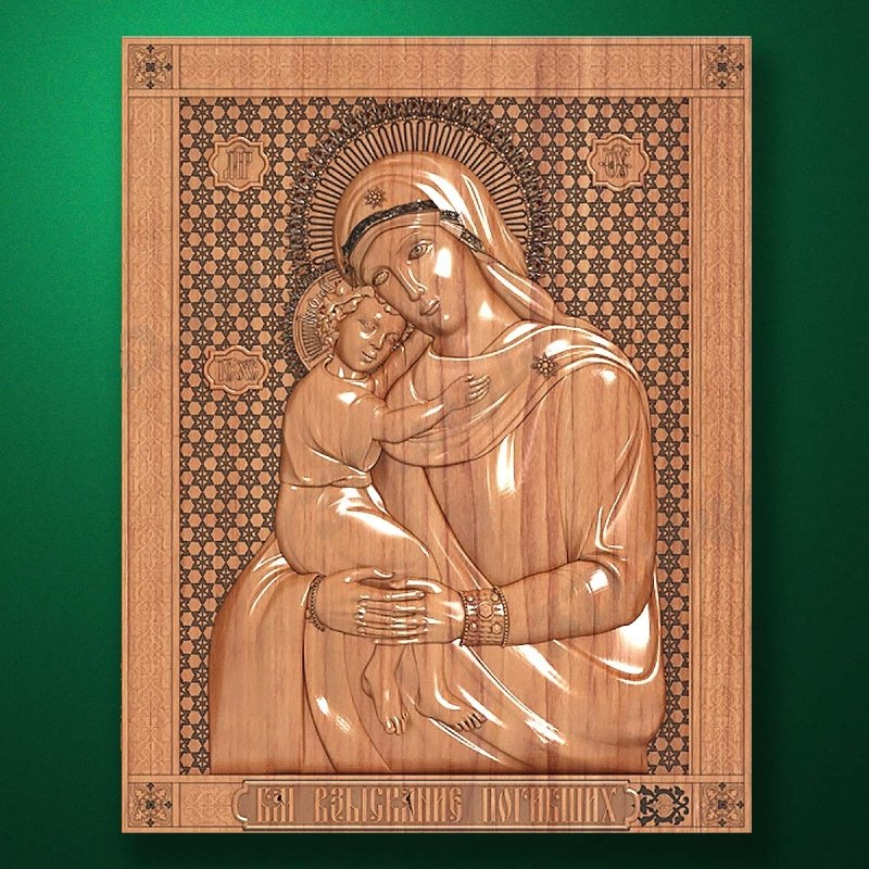 "Carved wooden icon ""Mother of God"" (77325)"