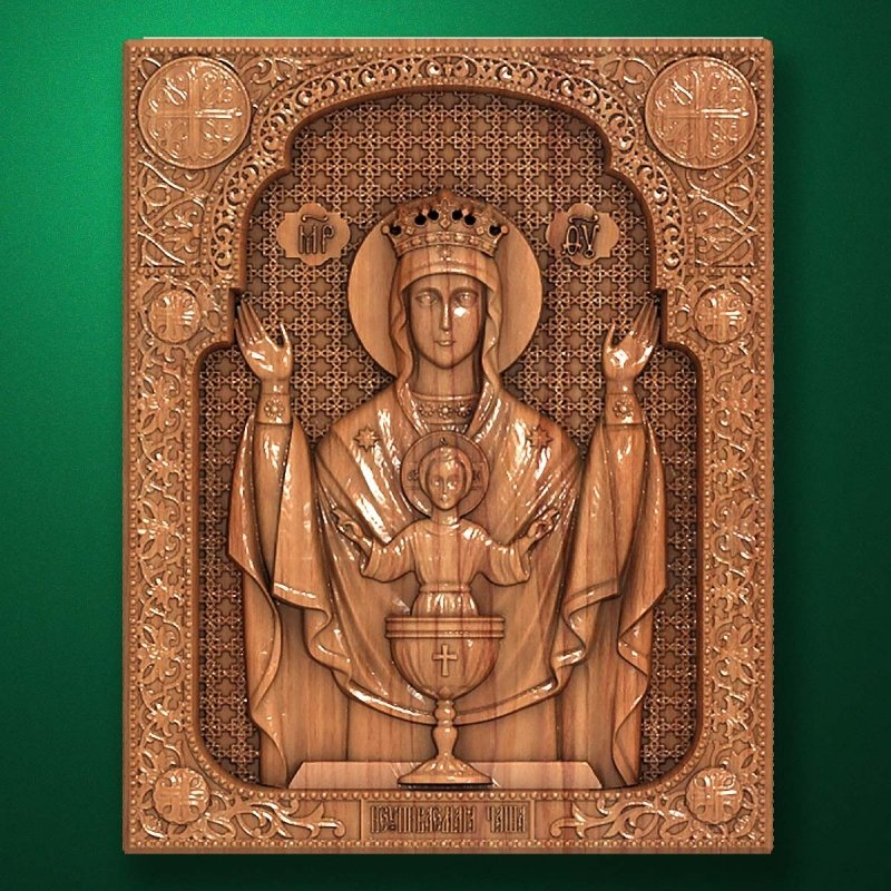 "Carved wooden icon ""Mother of God"" (77326)"