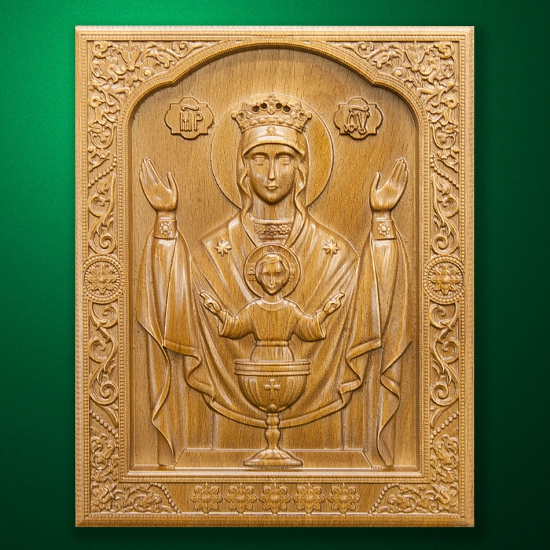 "Carved wooden icon ""Mother of God"" (77327)"