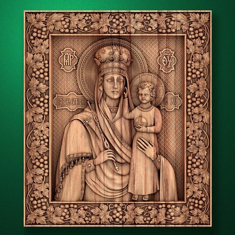 "Carved wooden icon ""Mother of God"" (77328)"