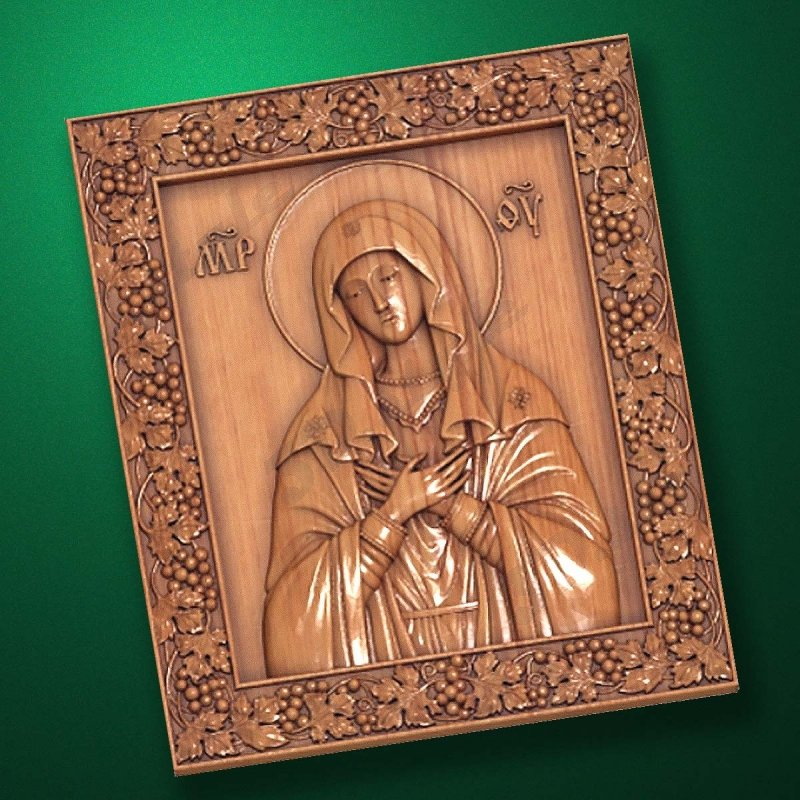 "Carved wooden icon ""Mother of God"" (77329)"