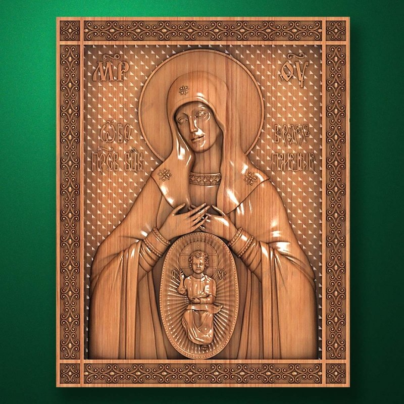"Carved wooden icon ""Mother of God"" (77330)"
