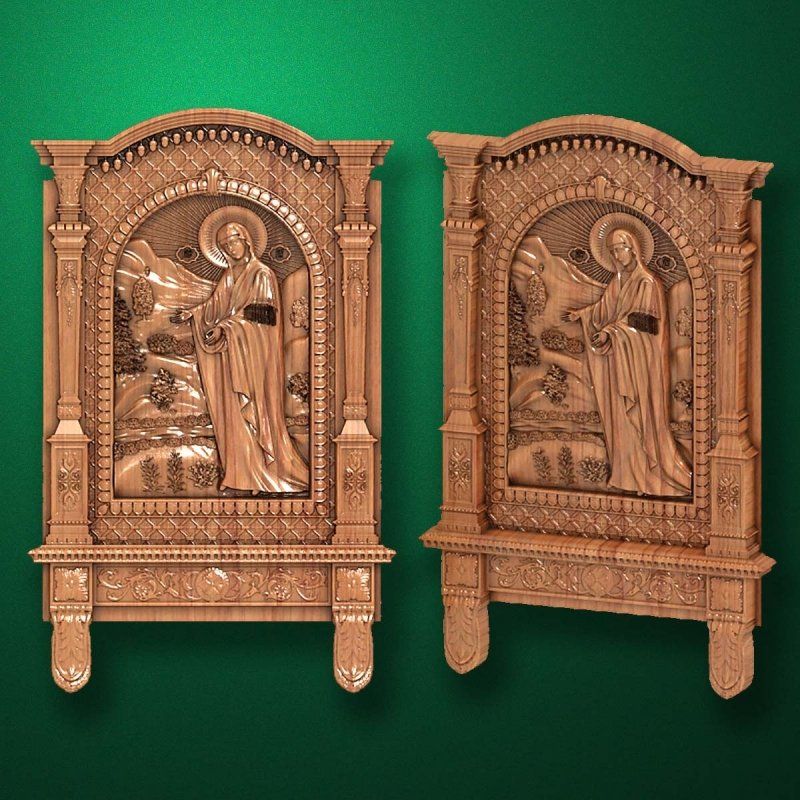"Carved wooden icon ""Mother of God"" (77332)"