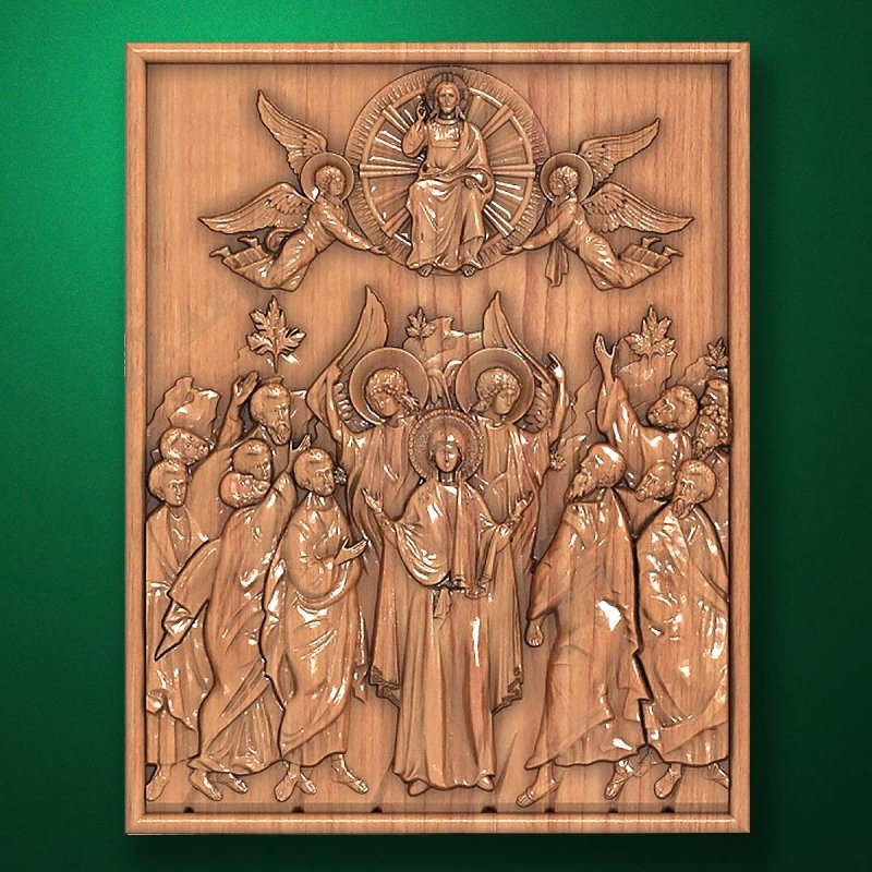 "Carved wooden icon ""Mother of God"" (77333)"