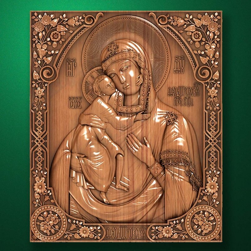 "Carved wooden icon ""Mother of God"" (77335)"