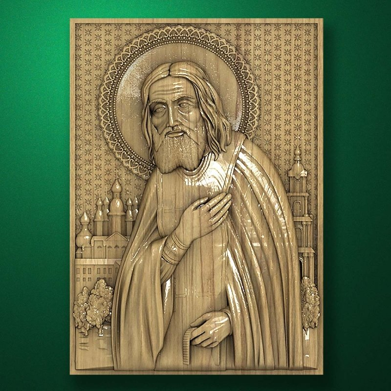 Carved wooden icon (Code 77514)