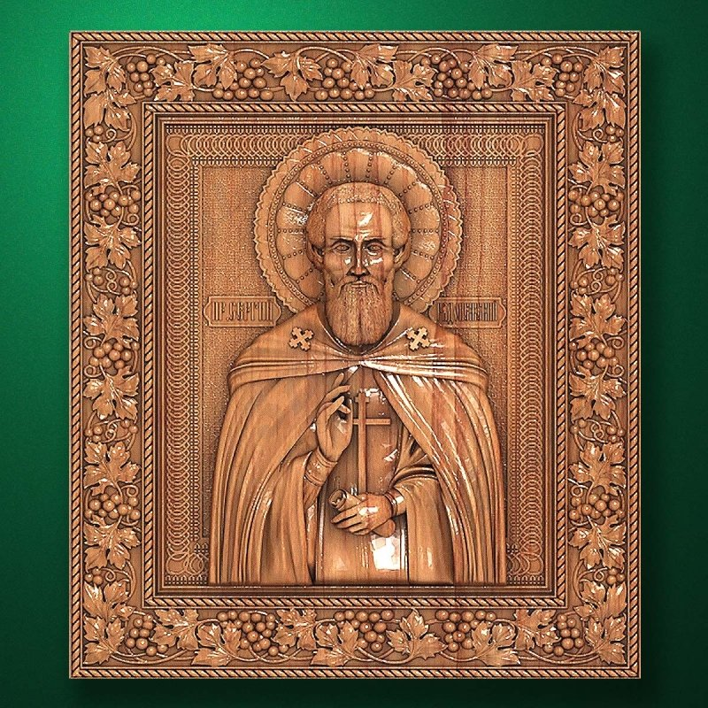 Carved wooden icon (Code 77515)