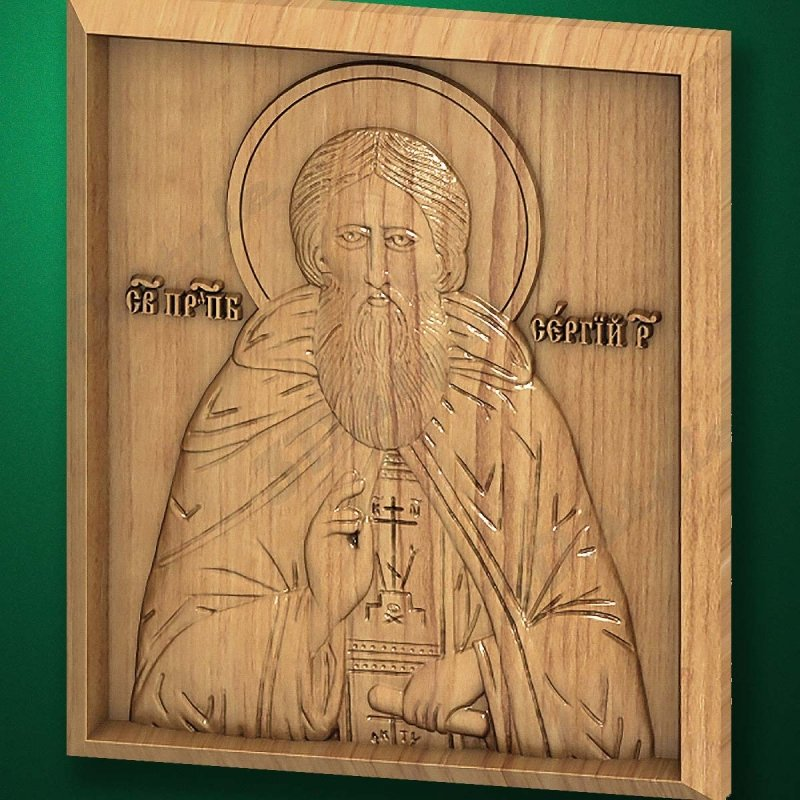 Carved wooden icon (Code 77516)