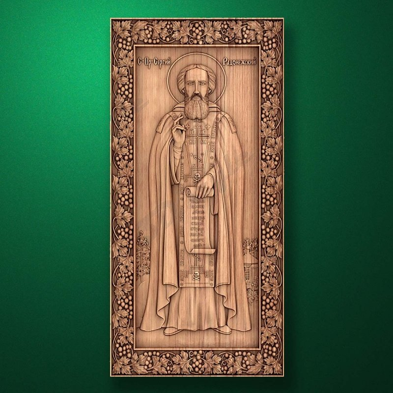 Carved wooden icon (Code 77517)
