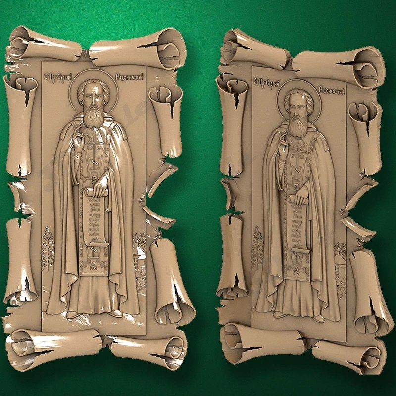 Carved wooden icon (Code 77518)