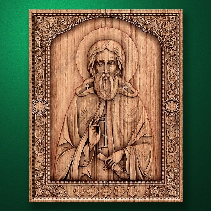 Carved wooden icon (Code 77520)