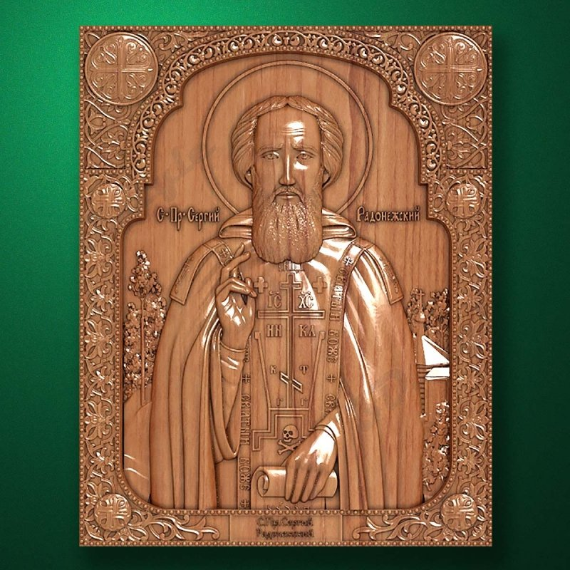 Carved wooden icon (Code 77521)