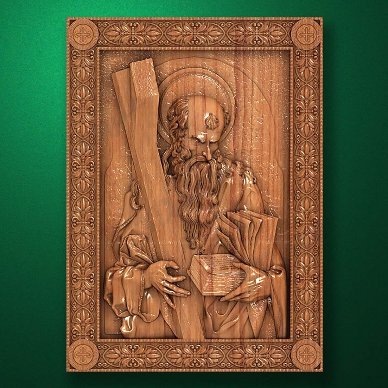 Carved wooden icon (Code 77523)