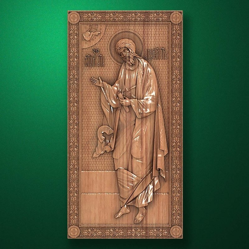 Carved wooden icon (Code 77524)