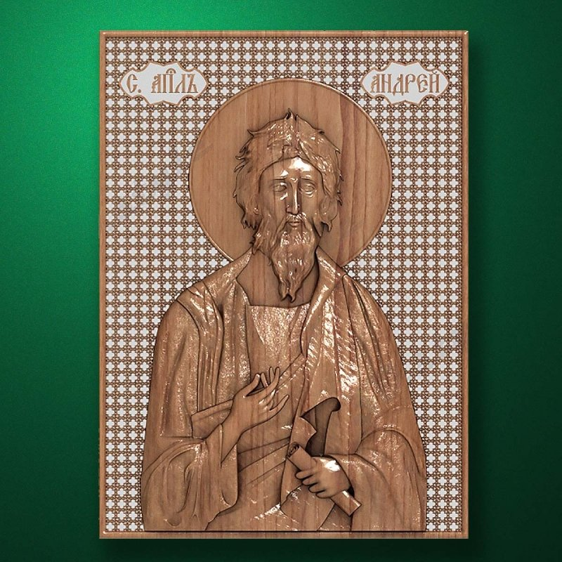 Carved wooden icon (Code 77525)