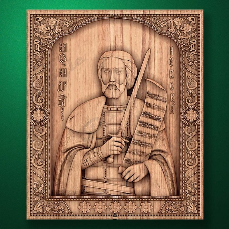 Carved wooden icon (Code 77526)