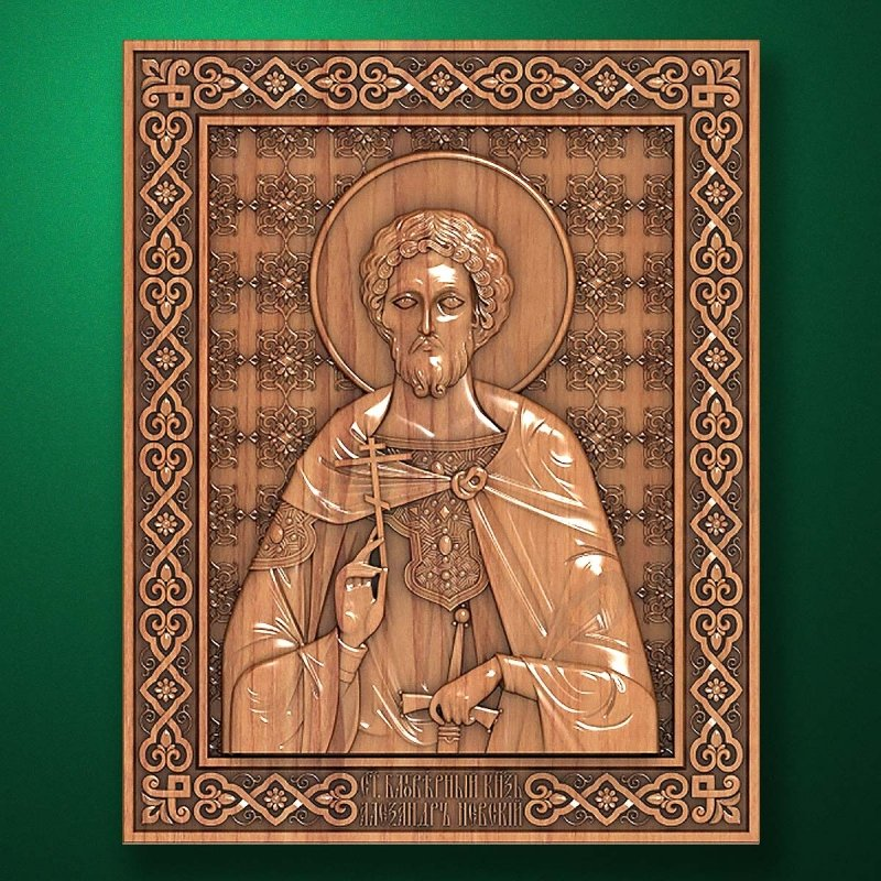 Carved wooden icon (Code 77527)