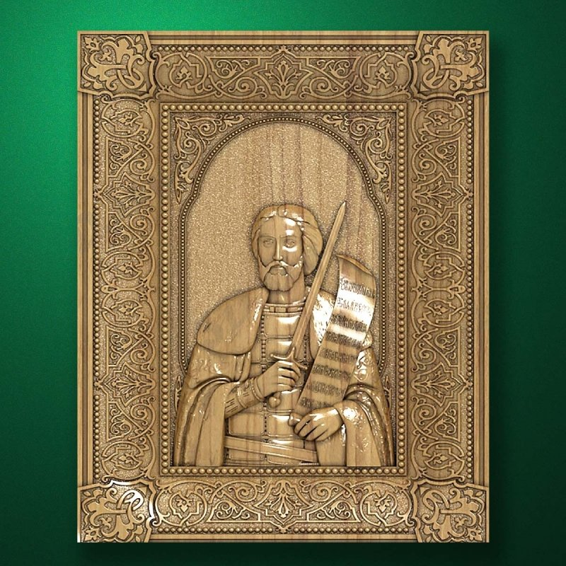 Carved wooden icon (Code 77528)
