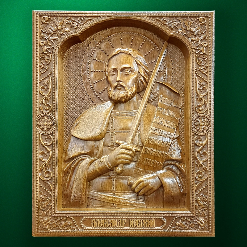 Carved wooden icon (Code 77529)