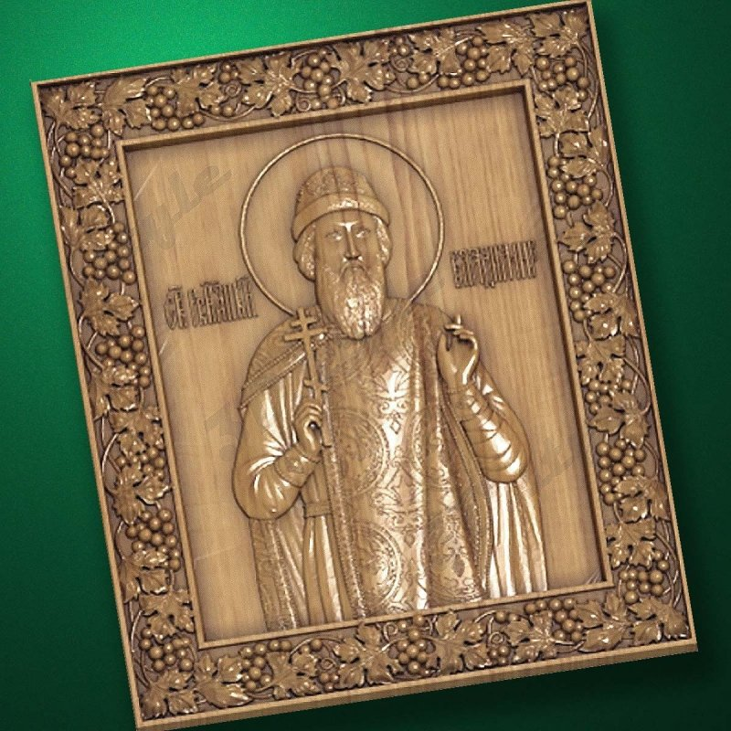 Carved wooden icon (Code 77530)