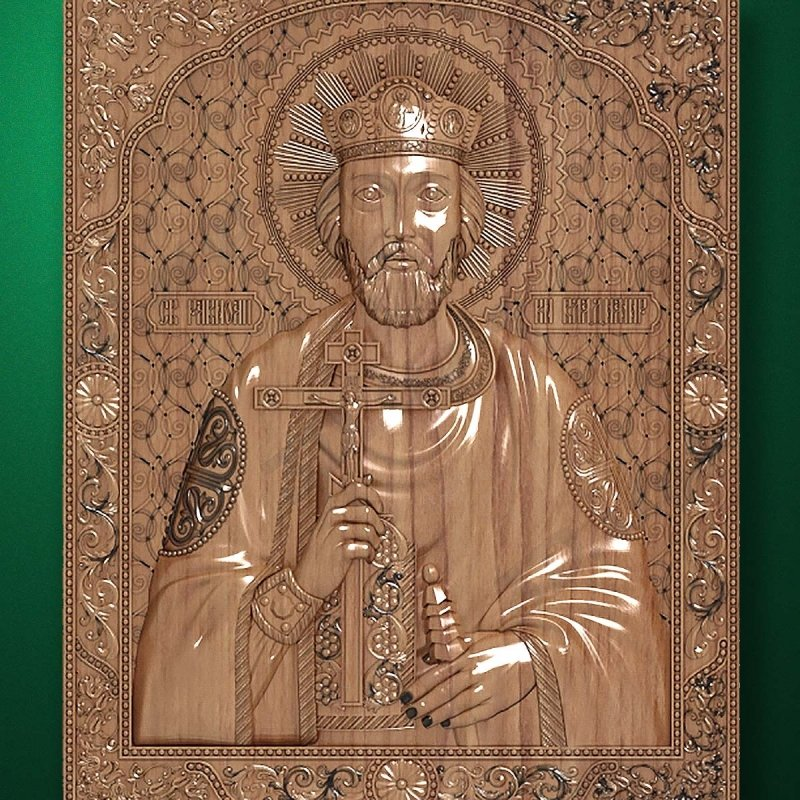Carved wooden icon (Code 77531)