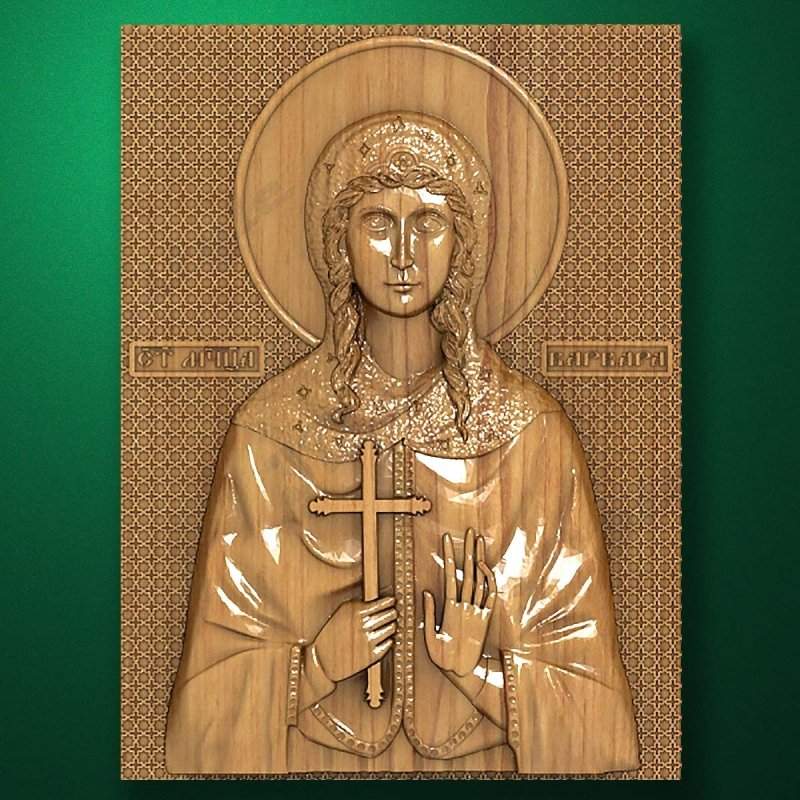 Carved wooden icon (Code 77532)