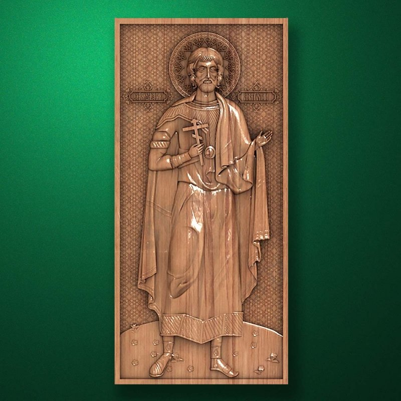 Carved wooden icon (Code 77534)