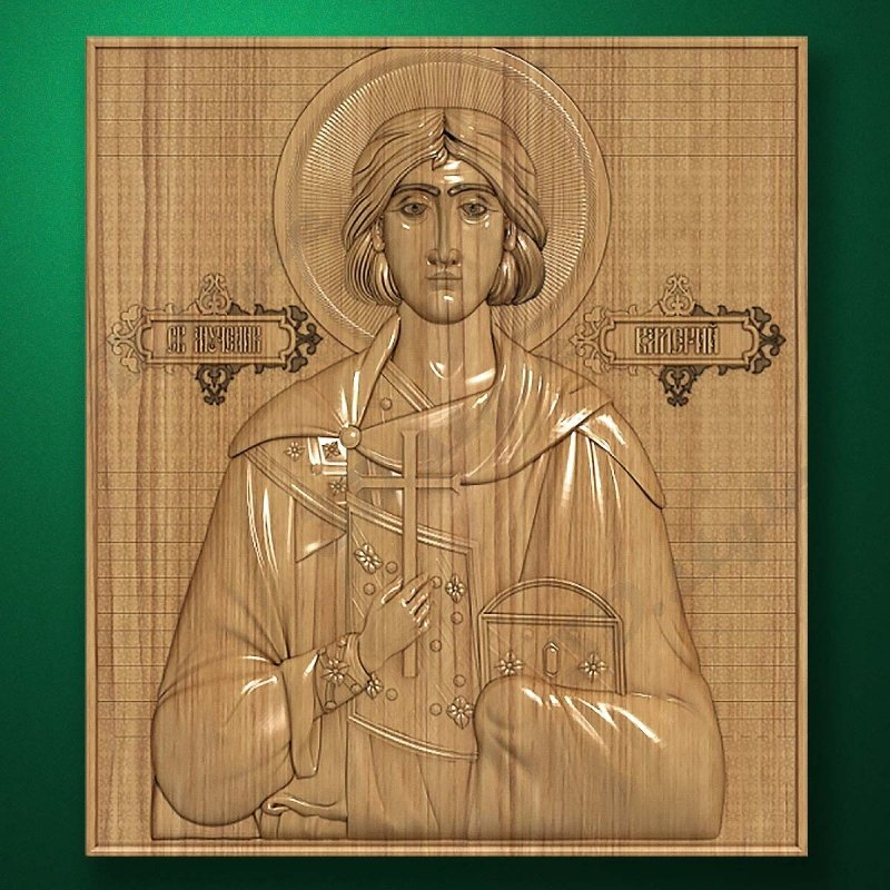 Carved wooden icon (Code 77536)