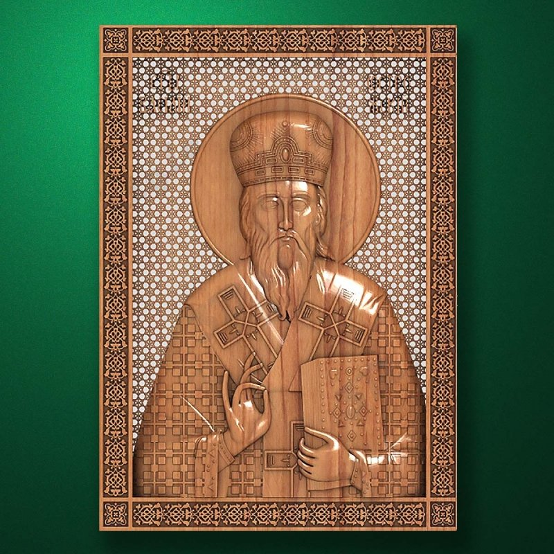 Carved wooden icon (Code 77537)