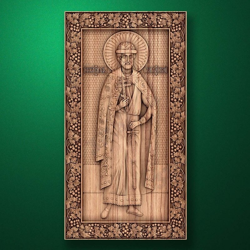 Carved wooden icon (Code 77541)