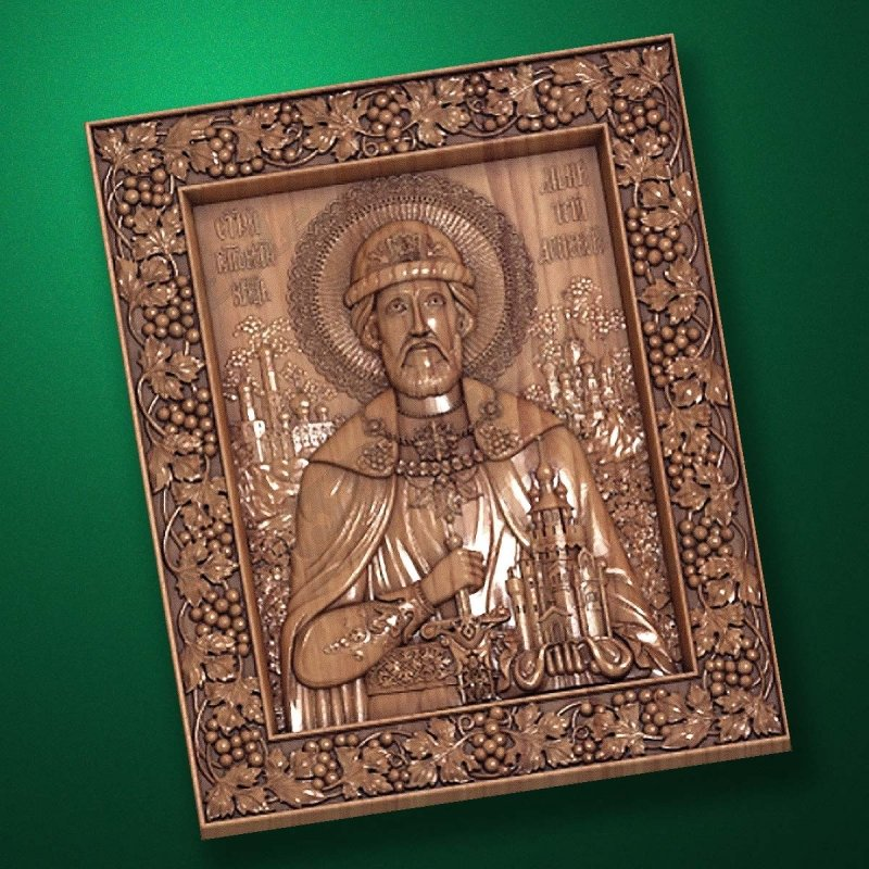 Carved wooden icon (Code 77543)