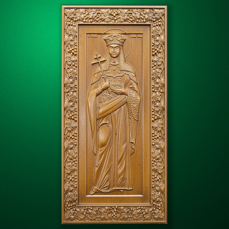 Carved wooden icon (Code 77545)