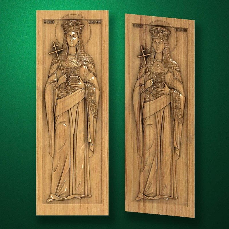 Carved wooden icon (Code 77546)