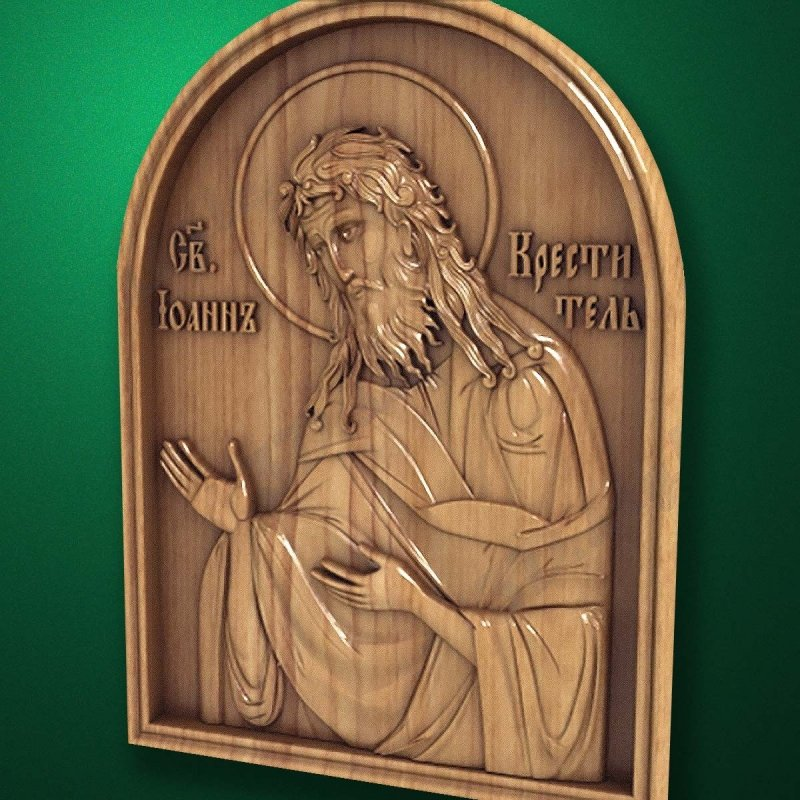 Carved wooden icon (Code 77548)
