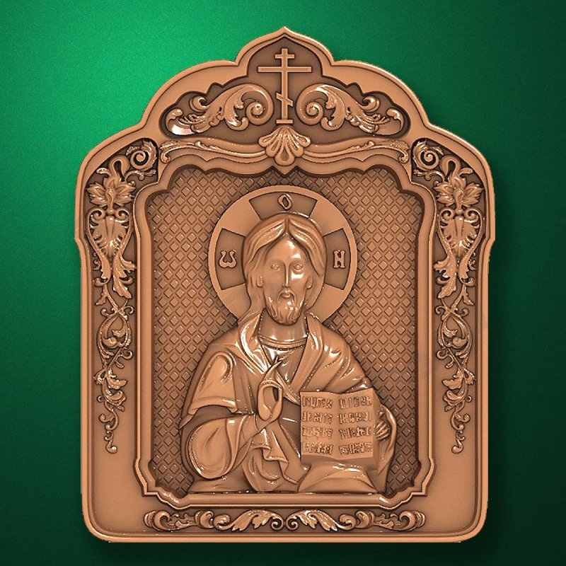 Carved wooden icon (Code 77549)