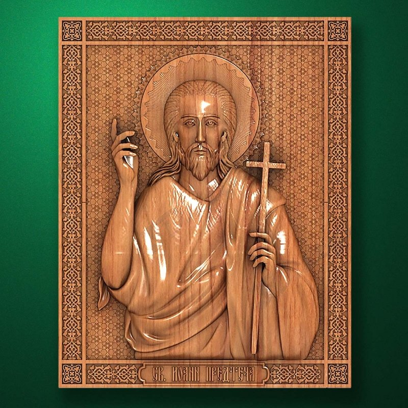 Carved wooden icon (Code 77550)