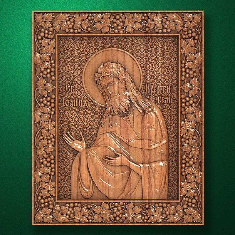 Carved wooden icon (Code 77551)
