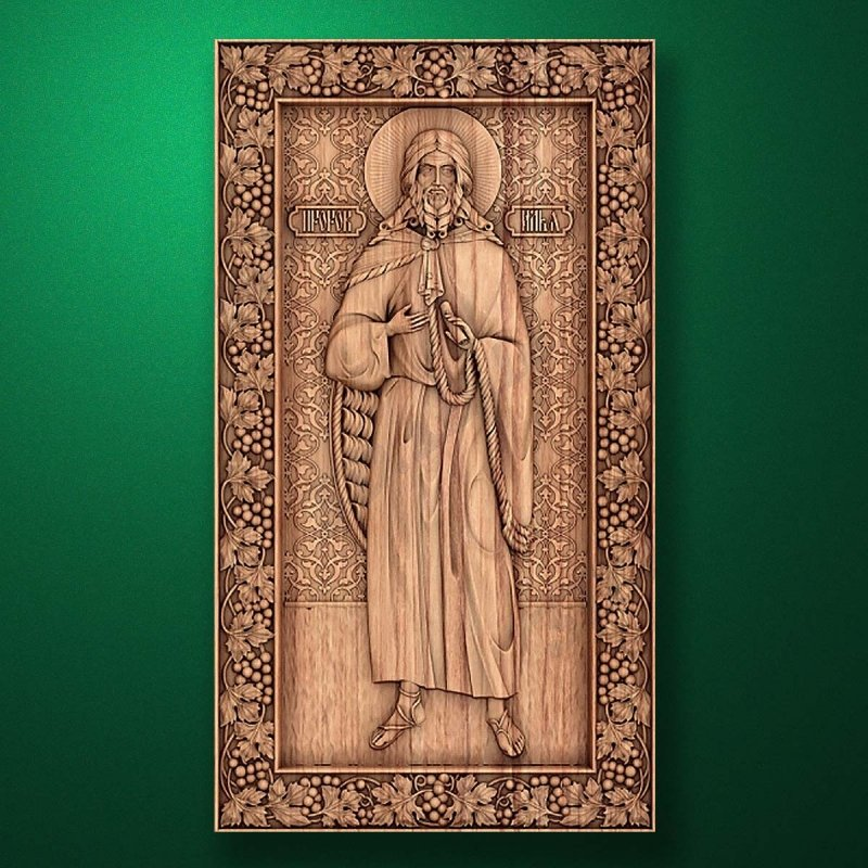 Carved wooden icon (Code 77552)