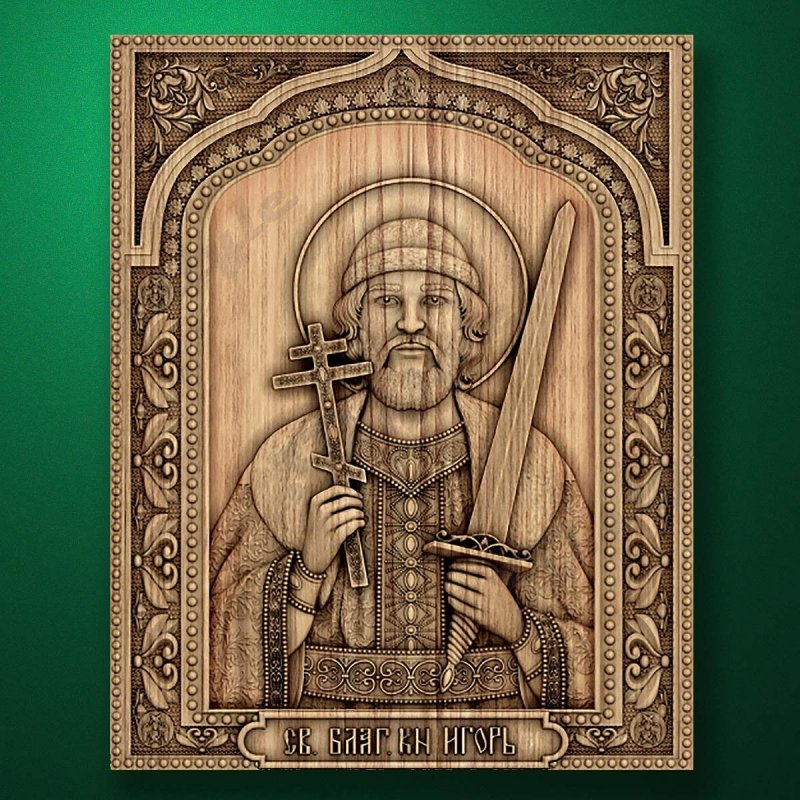 Carved wooden icon (Code 77553)
