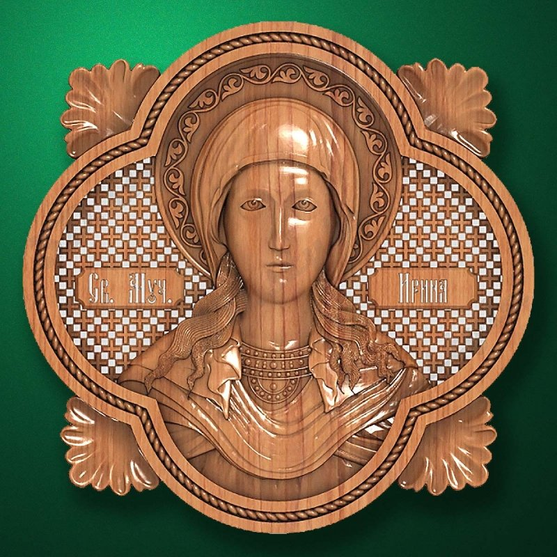 Carved wooden icon (Code 77554)